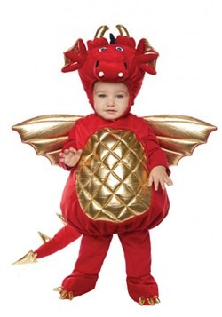 Toddler Red Dragon Bubble Costume