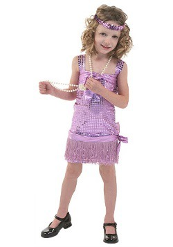 Purple Toddler Flapper Costume