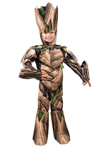 Click Here to buy Guardians of the Galaxy Groot Deluxe Kids Kid Costume from HalloweenCostumes, CDN Funds & Shipping
