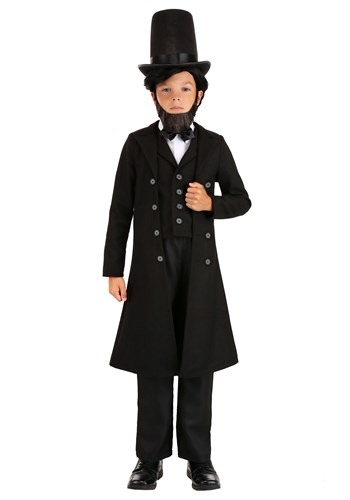 Click Here to buy President Abe Lincoln Kids  Costume from HalloweenCostumes, CDN Funds & Shipping