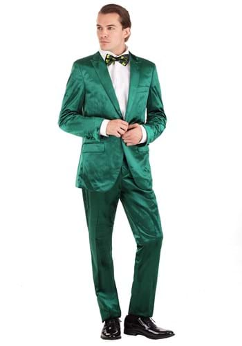Mens Green St. Patricks Day Leprechaun Suit Costume