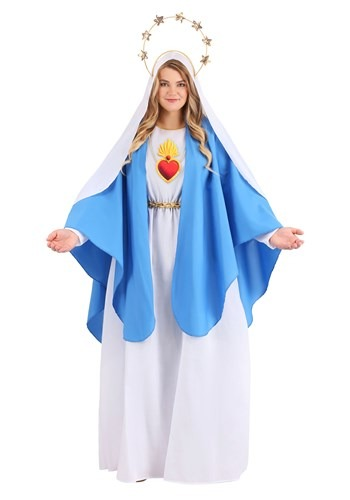 Plus Size Nativity Mary Costume for Women
