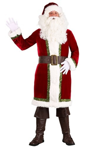 Click Here to buy Plus Size Old Time Santa Claus Mens Costume from HalloweenCostumes, CDN Funds & Shipping