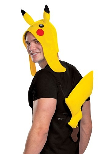 Click Here to buy Nintendo Pokemon Adult Pikachu Accessory Kit from HalloweenCostumes, CDN Funds & Shipping