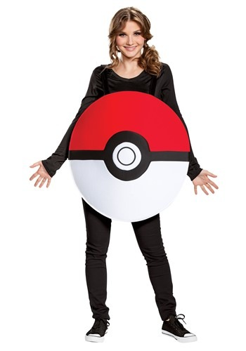 Click Here to buy Nintendo Pokemon Adult Pokeball Classic Costume from HalloweenCostumes, CDN Funds & Shipping