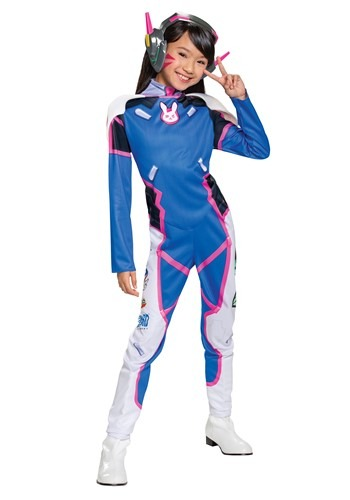 Girls Overwatch D.Va Deluxe Costume