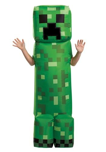 Child Minecraft Creeper Inflatable Costume