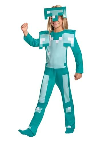 Click Here to buy Minecraft Armor Classic Kids Costume from HalloweenCostumes, CDN Funds & Shipping