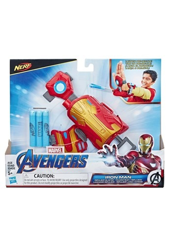 Click Here to buy Marvel Avengers Iron Man Blast Repulsor Gauntlet with Nerf Darts from HalloweenCostumes, CDN Funds & Shipping