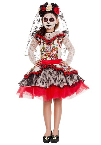 Sugar Skull Princess Girls Costume
