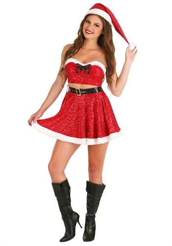 Click Here to buy Sexy Sequin Santa Womens Costume from HalloweenCostumes, CDN Funds & Shipping