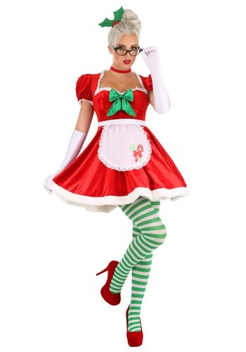 Women's Sexy Classic Mrs. Claus Costume 1