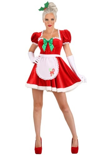 Click Here to buy Sexy Classic Mrs. Claus Womens Costume from HalloweenCostumes, CDN Funds & Shipping