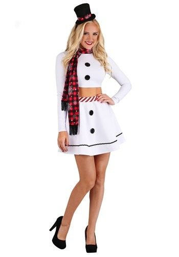 Click Here to buy Sexy Christmas Snowman Womens Costume from HalloweenCostumes, CDN Funds & Shipping