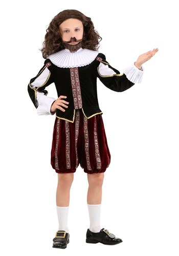 Click Here to buy William Shakespeare Boys Costume from HalloweenCostumes, CDN Funds & Shipping