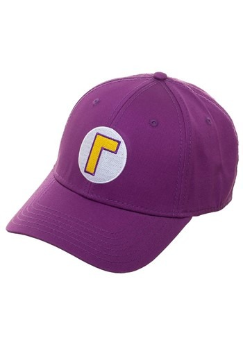 Click Here to buy Waluigi Flex Fit Hat from HalloweenCostumes, CDN Funds & Shipping