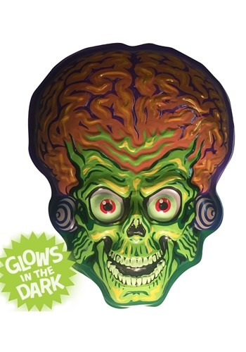 Click Here to buy Martian Invader Mars Attacks Vacuform Mask 23  Wall Hanger Decor from HalloweenCostumes, CDN Funds & Shipping