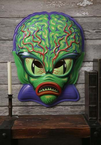 Click Here to buy Vacuform Space Invader Mask 23  Wall Hanger Decor from HalloweenCostumes, CDN Funds & Shipping
