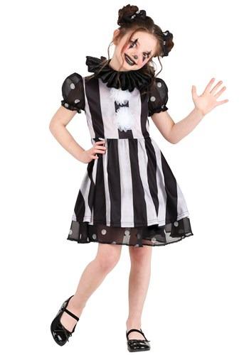 Dark Circus Clown Costume for Girls