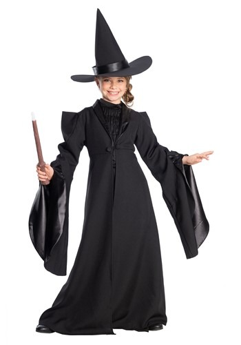 Click Here to buy Girls Harry Potter Professor McGonagall Deluxe Costume from HalloweenCostumes, CDN Funds & Shipping