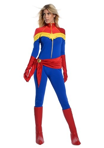 Click Here to buy Captain Marvel Womens Premium Costume from HalloweenCostumes, CDN Funds & Shipping