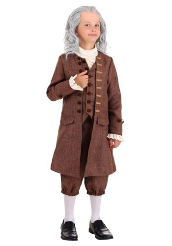 Click Here to buy Colonial Benjamin Franklin Boys Costume from HalloweenCostumes, CDN Funds & Shipping