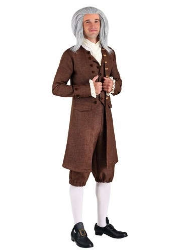Plus Size Colonial Benjamin Franklin Costume for Men
