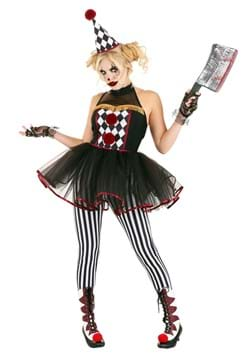 Women's Twisted Clown Costume