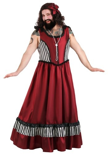 Click Here to buy Mens Bearded Woman Plus Size Costume from HalloweenCostumes, CDN Funds & Shipping