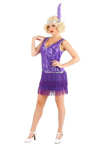 Click Here to buy Amethyst Purple Flapper Womens Costume from HalloweenCostumes, CDN Funds & Shipping