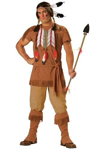 Click Here to buy Mens Native American Brave Costume from HalloweenCostumes, CDN Funds & Shipping
