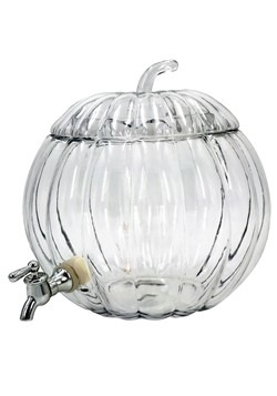 Glass Pumpkin 2 Gallon Party Drink Dispenser1