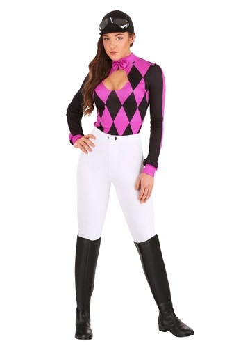 Click Here to buy Sexy Womens Jockey Costume from HalloweenCostumes, CDN Funds & Shipping