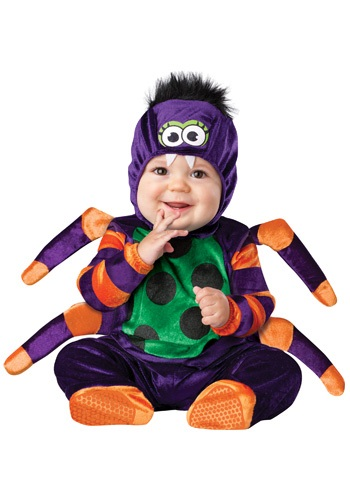 Click Here to buy Itsy Bitsy Spider Costume W/ Jumpsuit | Baby Spider Costume from HalloweenCostumes, CDN Funds & Shipping