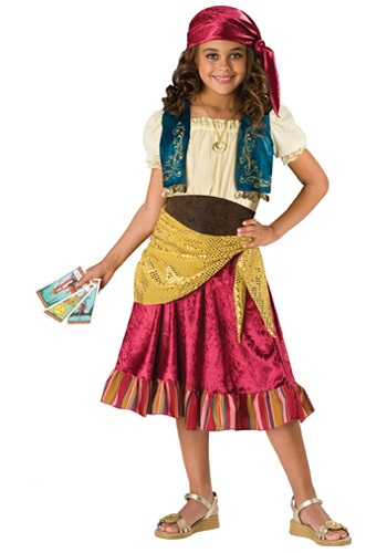 Click Here to buy Kids Gypsy Girl Costume from HalloweenCostumes, CDN Funds & Shipping