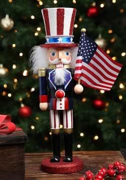15 inch Wooden Uncle Sam Nutcracker