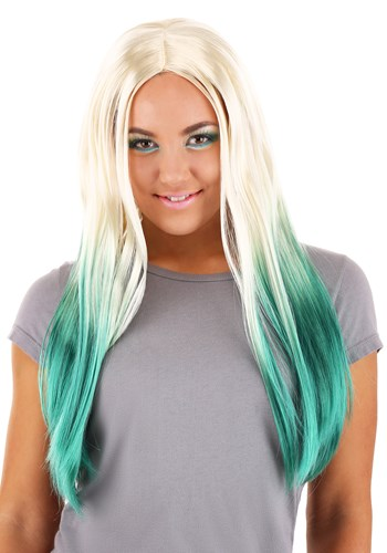 Blonde and Green Ombre Mermaid Wig for Women