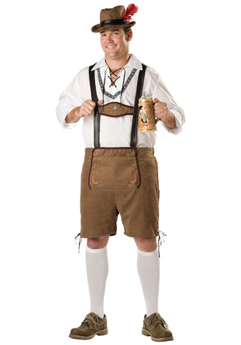 Plus Oktoberfest Guy Costume