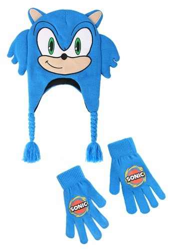 Sonic the Hedgehog Sega Peruvian Hat & Glove Set