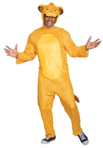 Adult Lion King Animated Simba Jumpsuit Costume