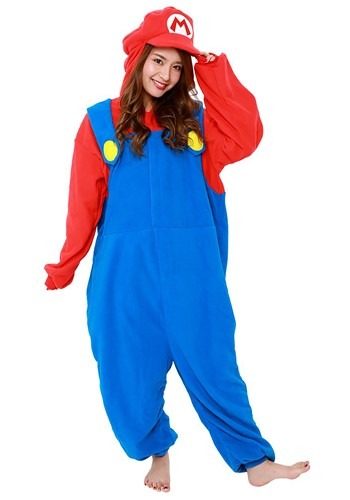Click Here to buy Super Mario Brothers Mario Kigurumi Costume for Adults from HalloweenCostumes, CDN Funds & Shipping