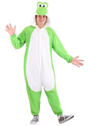 Click Here to buy Super Mario Brothers Yoshi Kigurumi Adult Costume from HalloweenCostumes, CDN Funds & Shipping