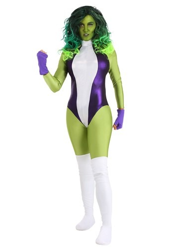 Click Here to buy She Hulk Deluxe Womens Costume from HalloweenCostumes, CDN Funds & Shipping