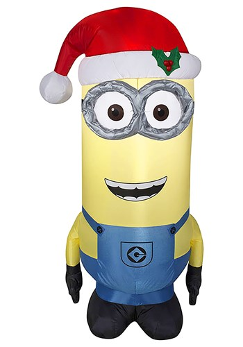 Inflatable Despicable Me Kevin Minion in Santa Hat