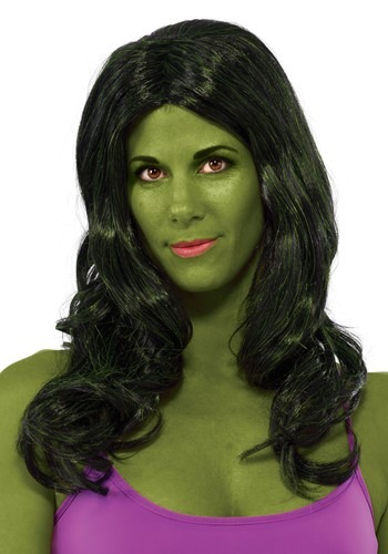 Click Here to buy She Hulk Wig from HalloweenCostumes, CDN Funds & Shipping
