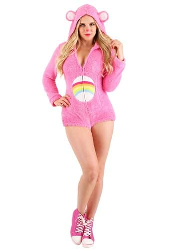 Click Here to buy Cheer Bear Romper Womens Costume from HalloweenCostumes, CDN Funds & Shipping