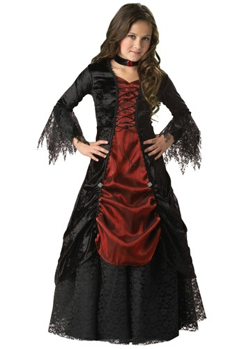 Click Here to buy Girls Gothic Vampira Costume from HalloweenCostumes, CDN Funds & Shipping