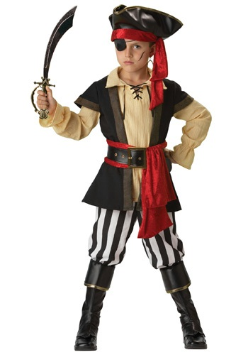 Click Here to buy Kids Scoundrel Pirate Costume from HalloweenCostumes, CDN Funds & Shipping