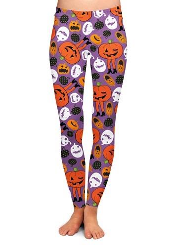 Two Left Feet Attack of the Pumpkins Leggings for Women