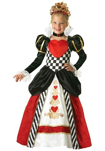 Click Here to buy Kids Deluxe Queen of Hearts Costume from HalloweenCostumes, CDN Funds & Shipping